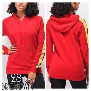 Zine - Red & Yellow Hoodie Sweatshirt Women's NWT